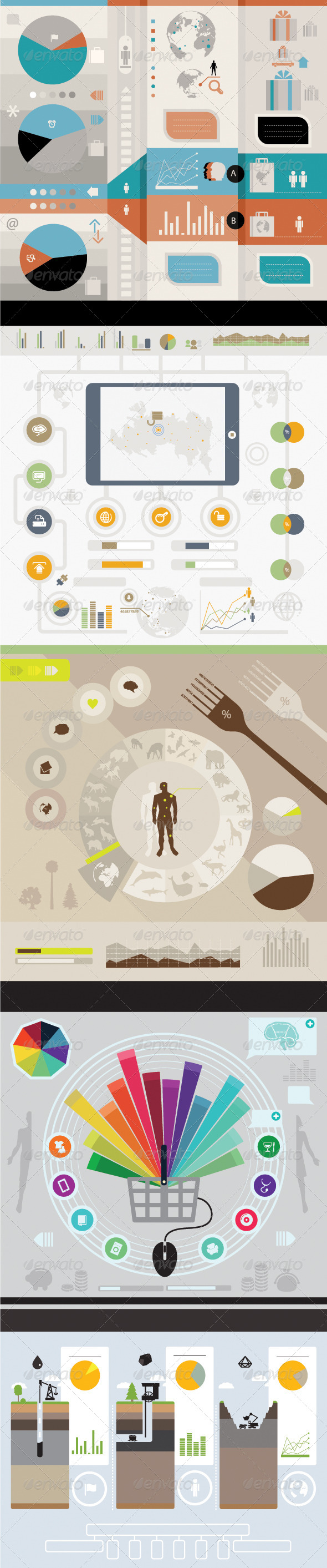 GraphicRiver Set of infographics 5798145