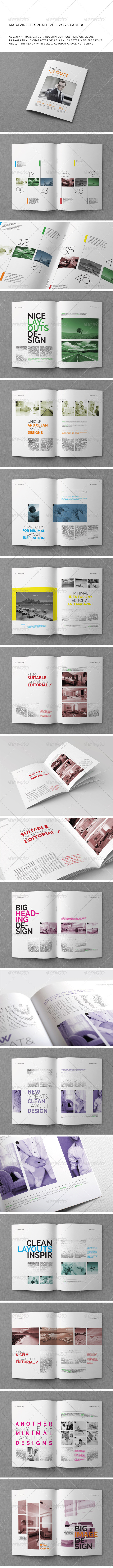 GraphicRiver A4 Letter 26 Pages Mgz Vol 21 5798155