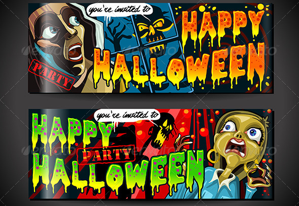 GraphicRiver Banners Invite for Halloween Party 5798158