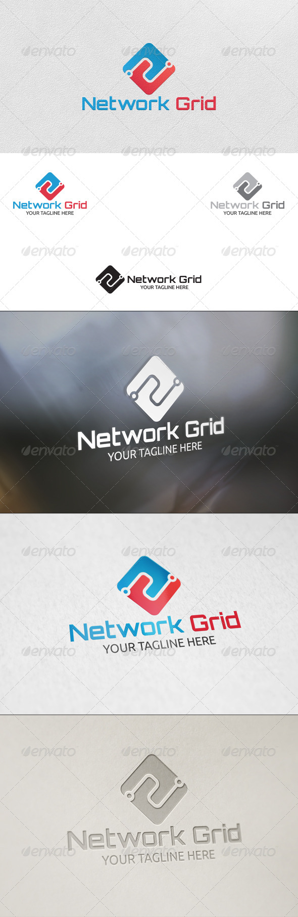 GraphicRiver Network Grid Logo Template 5798159