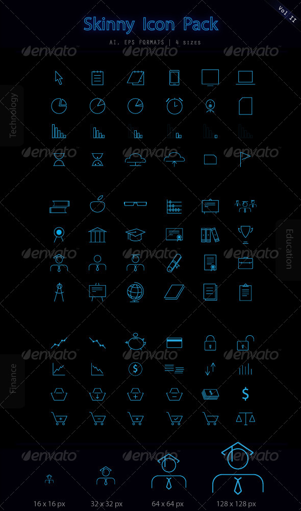 GraphicRiver Skinny Icon Set 5798167