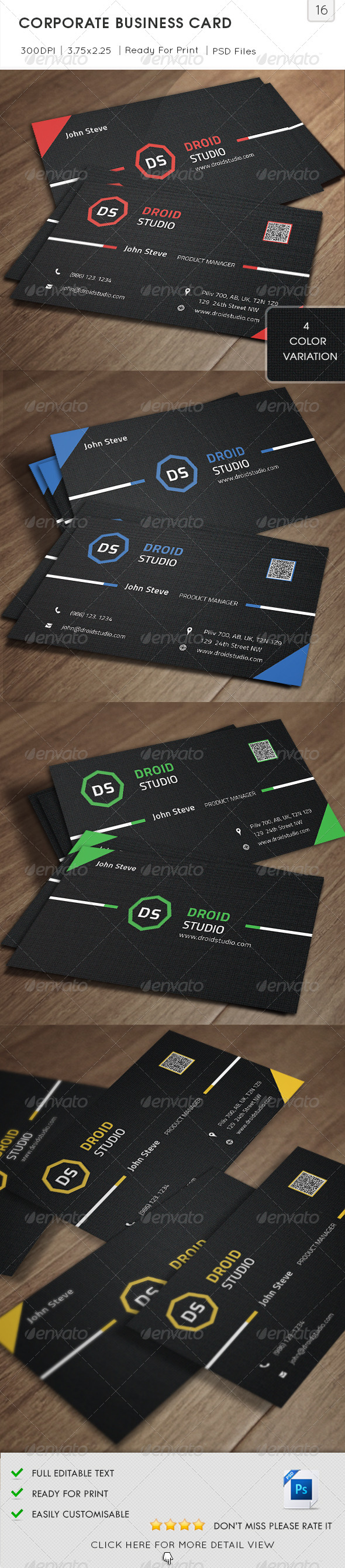 GraphicRiver Corporate Business Card v16 5798197