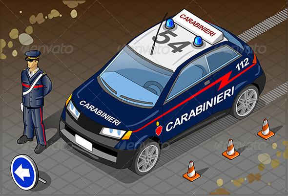 GraphicRiver Isometric Italian Carabinieri Police Car 5798198