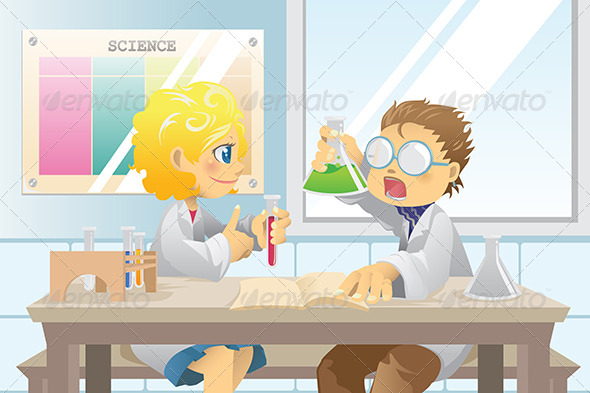 GraphicRiver Students in Science Project 5798260