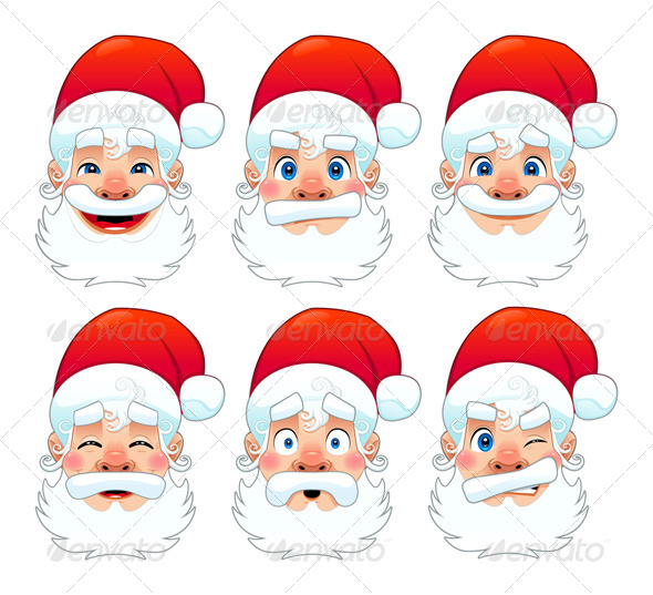 GraphicRiver Santa Claus Multiple Expressions 5798284