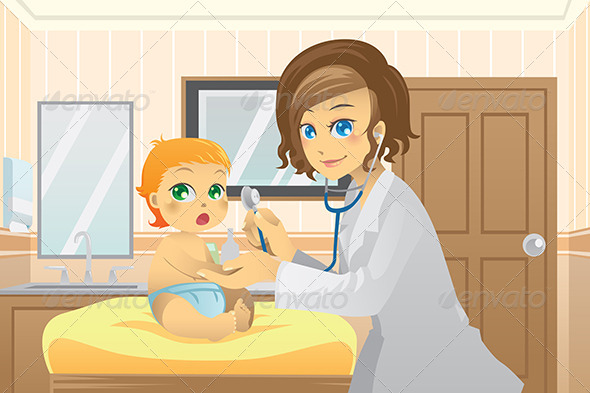 cartoon pediatrician 187 tinkytylerorg stock photos