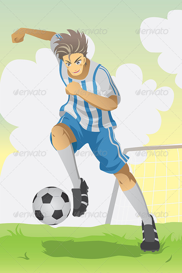 GraphicRiver Soccer Player 5798378
