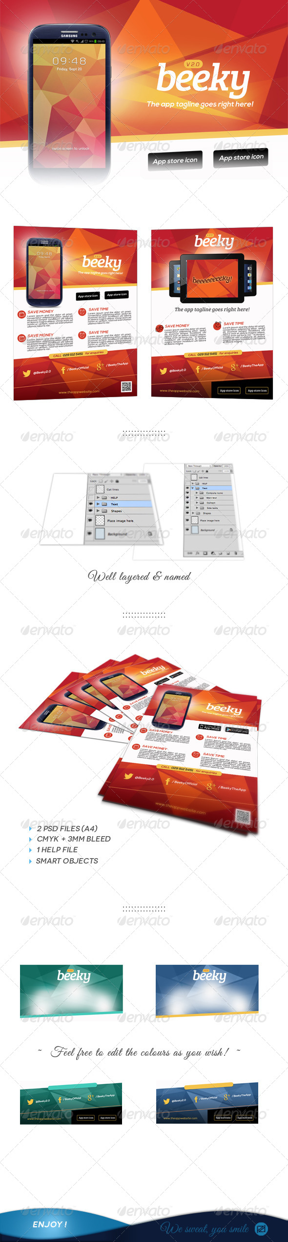 GraphicRiver App Promotion Flyers 5716959