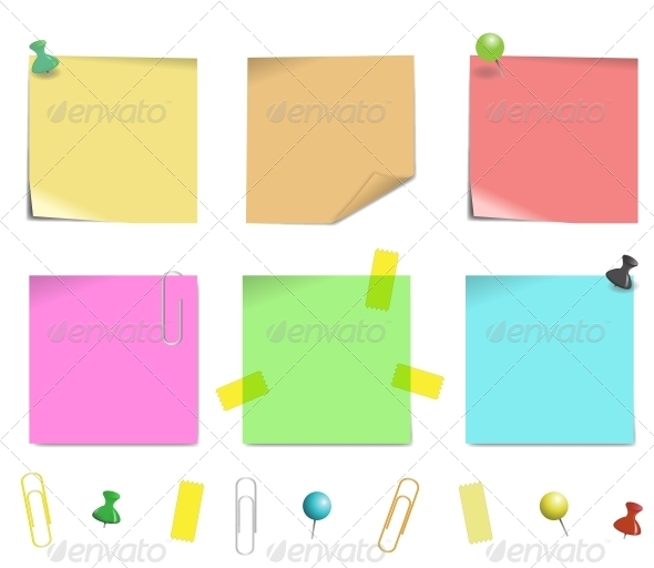GraphicRiver Sticky Note Paper 5799109