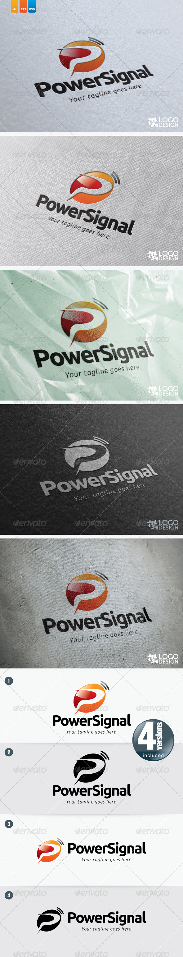 Power Signal - Letters Logo Templates