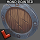 Low poly hand painted shield [Militia 01] - 3DOcean Item for Sale
