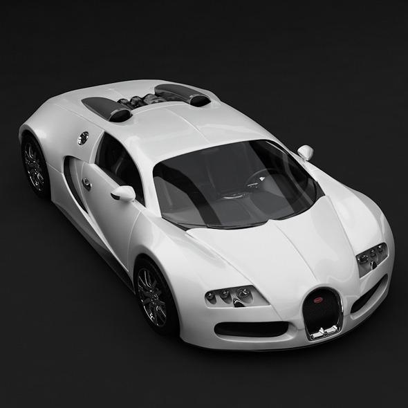 3DOcean Veyron Bugatti White 5799486