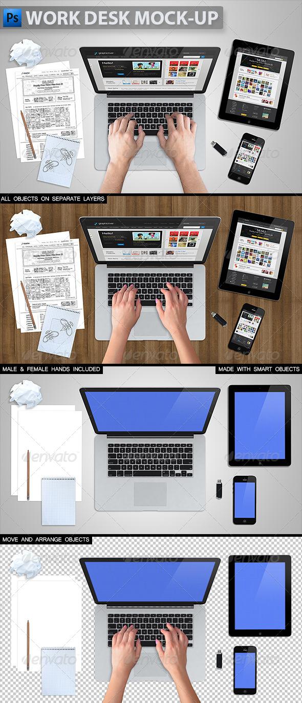 GraphicRiver Work Desk Mock-up 5746676
