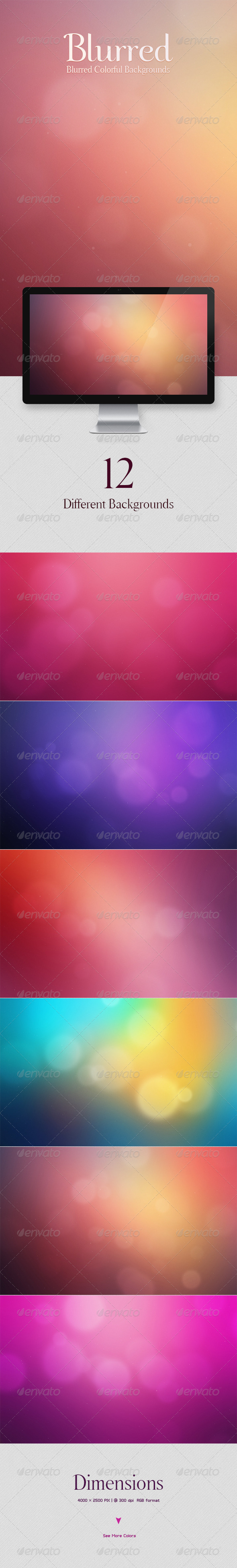 GraphicRiver Blurred Colorful Backgrounds 5799639