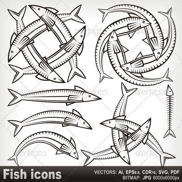 GraphicRiver Fish Icons 5799706