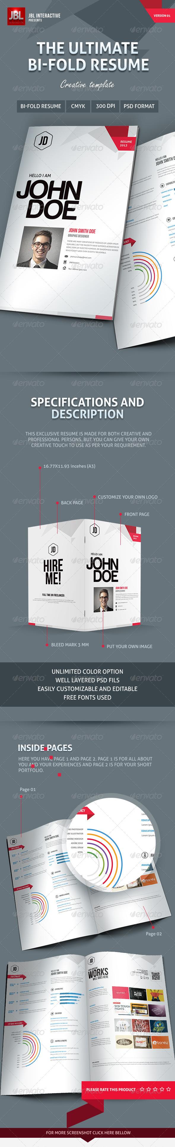 GraphicRiver Bi-Fold Creative Resume 5736469
