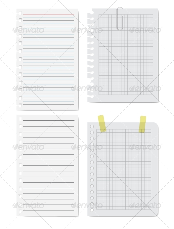 GraphicRiver Collection of White Papers Vector Illustration 5800118