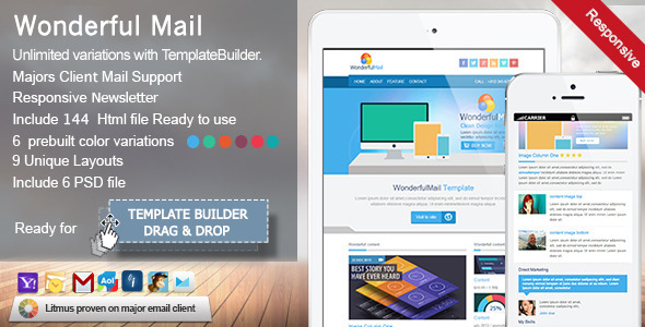 WonderfulMail - Responsive Email Template - Newsletters Email Templates
