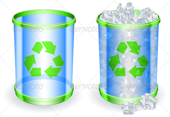 GraphicRiver Trash Cans 5800397