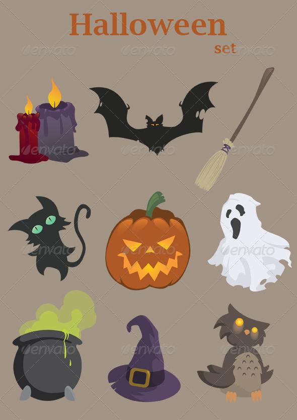 GraphicRiver Halloween Set 5800401