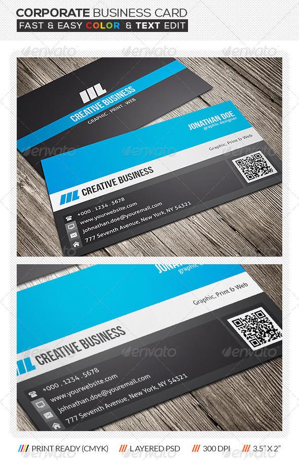 GraphicRiver Corporate Business Card Design 5800706