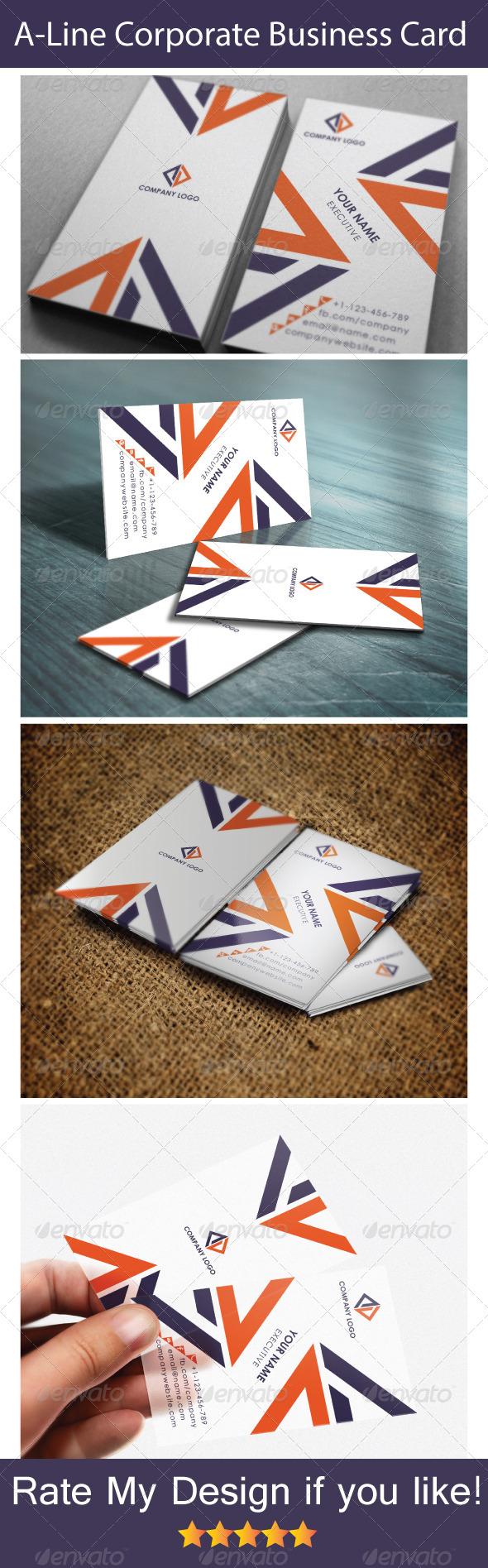 GraphicRiver A Line Corporative Business Card 5800733