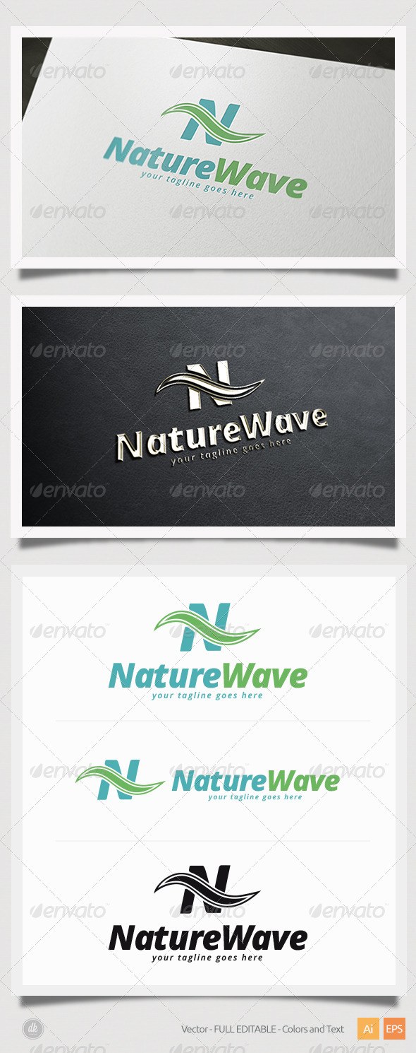 GraphicRiver Nature Wave Logo 5800898