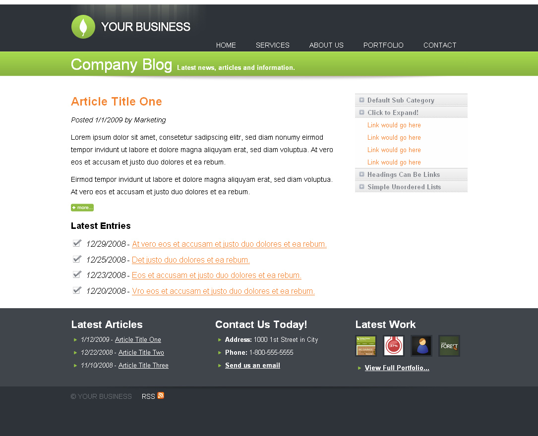 Clean Business Site