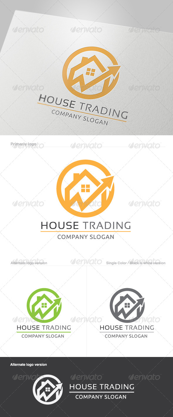 GraphicRiver House Trading Logo 5801212