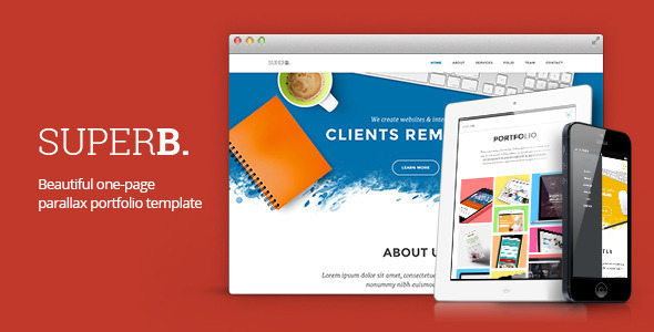 ThemeForest Superb Responsive One-Page Portfolio 5801938