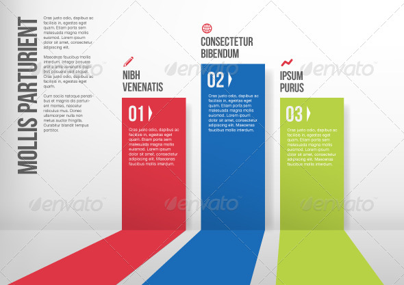 GraphicRiver Abstract Colorful Paper Stripe Infographics 5787157