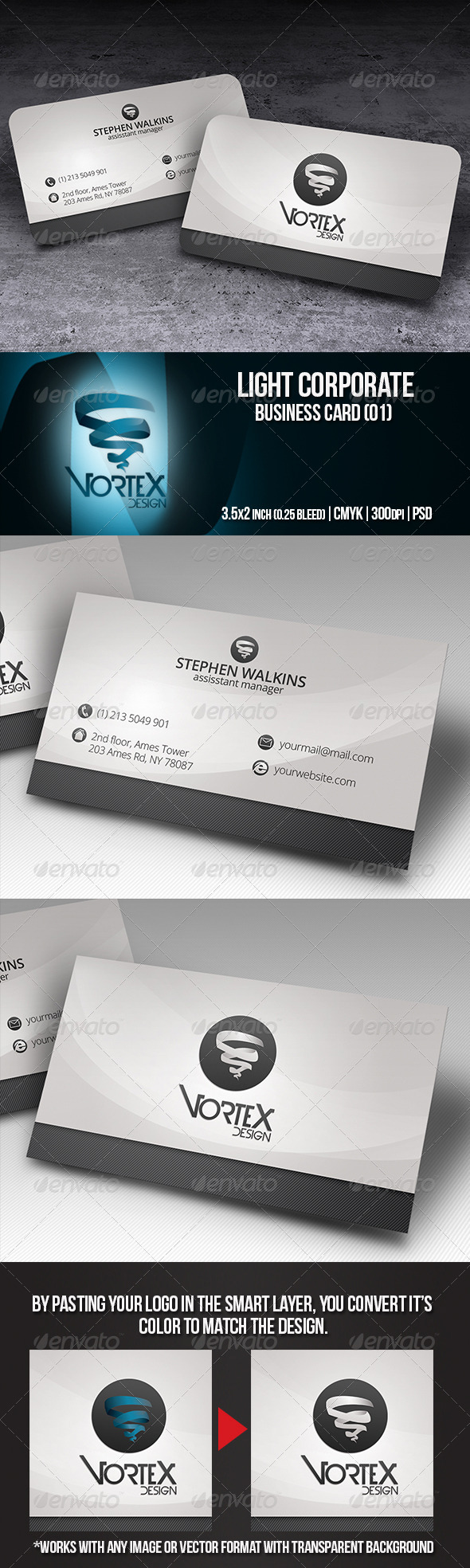 GraphicRiver Light Corporate Business Card 01 5740577