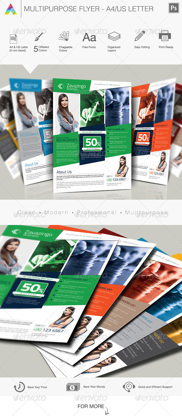 GraphicRiver Multipurpose Flyer 5802460