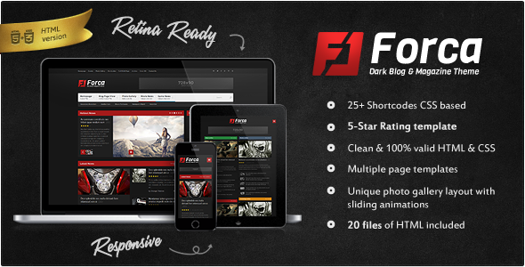Forca - Responsive News/Magazine HTML Template