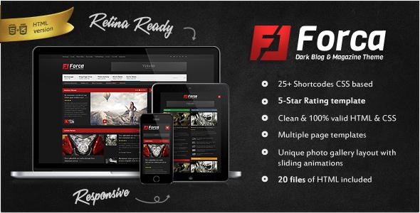 Forca - Responsive News/Magazine HTML Template