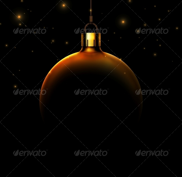 GraphicRiver Christmas Ball on Black Background 5802674