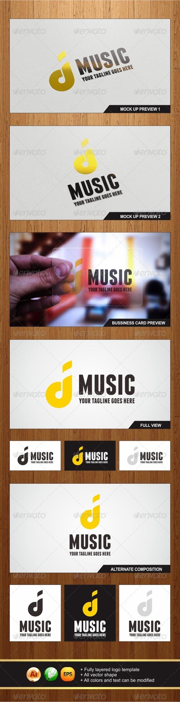 D'Music Logo - Letters Logo Templates