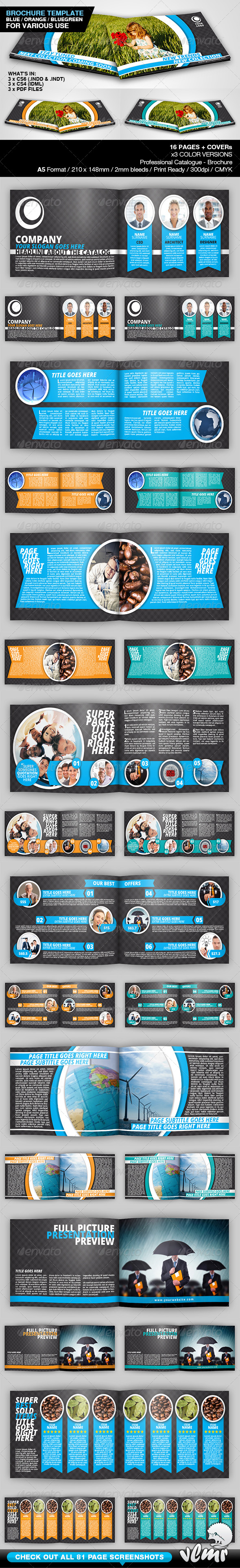 GraphicRiver Universal A5 Brochure Catalog Template 5803828