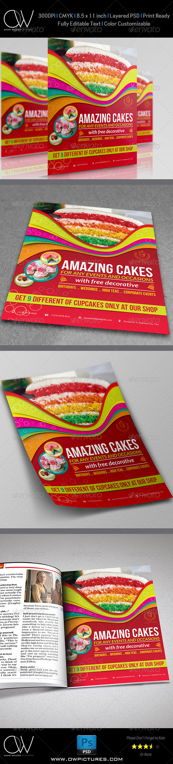 GraphicRiver Cake Flyer Template Vol.4 5803945