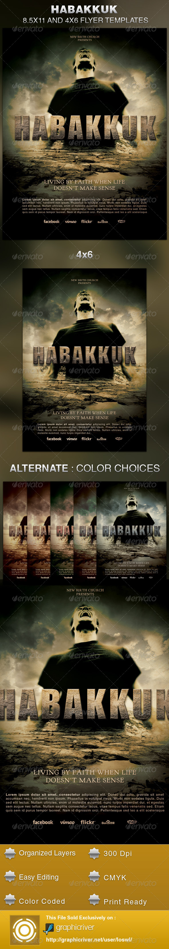 GraphicRiver Habakkuk Church Flyer Template 5803957
