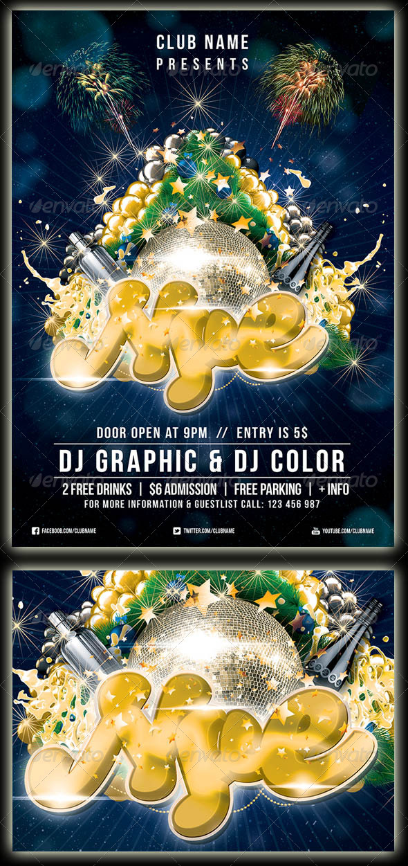 New Year's Eve - Events Flyers