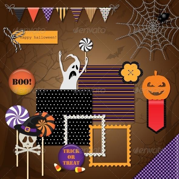 GraphicRiver Halloween Design Elements 5803963
