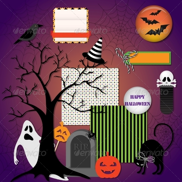 GraphicRiver Halloween Design Elements 5803966