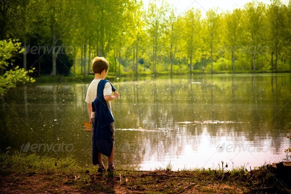 young child in the nature - Stock Photo - Images