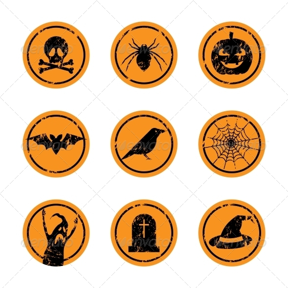 GraphicRiver Halloween Stickers 5803968