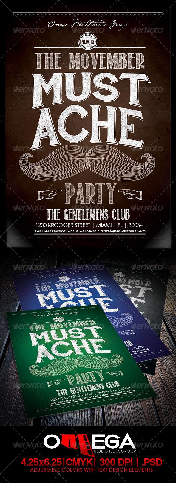 GraphicRiver The Movember Mustache Party 5804020