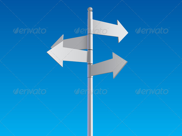 GraphicRiver Crossroad Sign 5804048