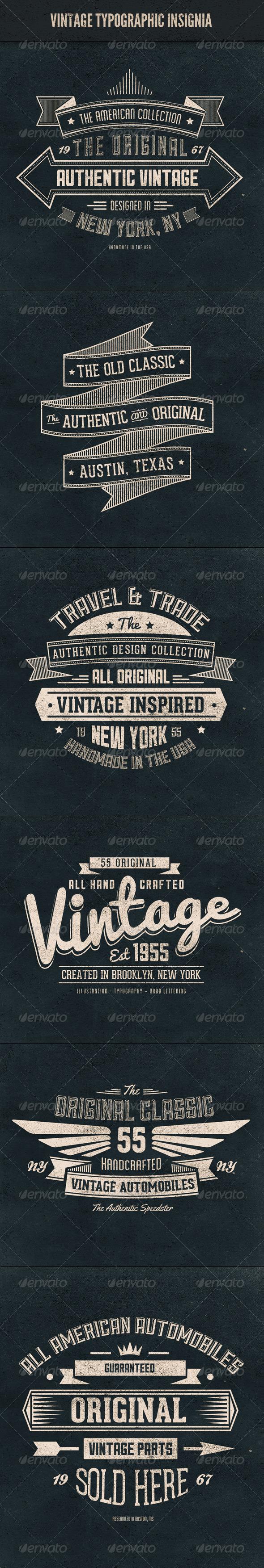 GraphicRiver Vintage Typographic Insignia 5804210