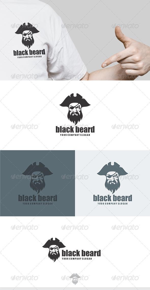 GraphicRiver Black Beard Logo 5804331
