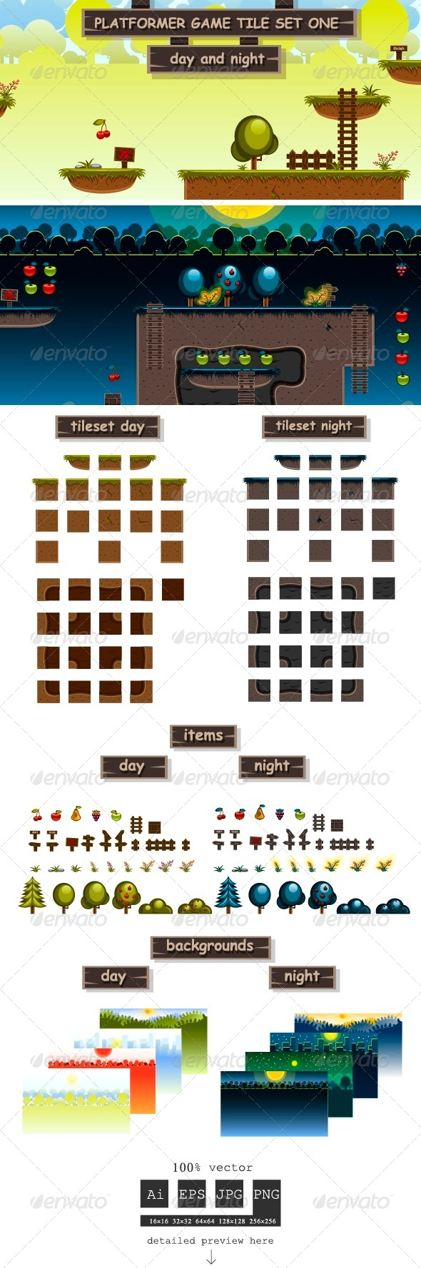 GraphicRiver Platformer Game Tile Set One 5804462
